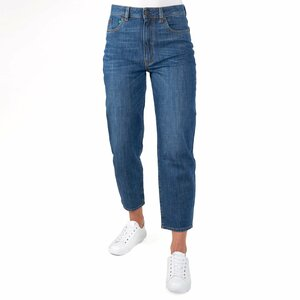 Damen-Jeans MOMS mit hohem, anliegendem Bund, aus Bio-Cotton - fairjeans