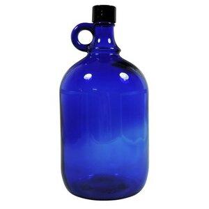 Große blaue Gallone 2 Liter Glasflasche mit Schraubverschluss - mikken