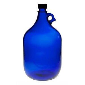 Große blaue Gallone 5 Liter Glasflasche mit Schraubverschluss - mikken