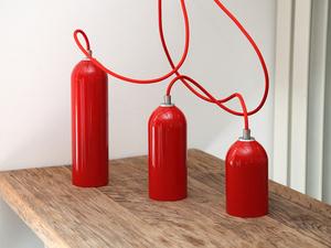 Leuchten FIRELIGHT rot - werkvoll by Lena Peter