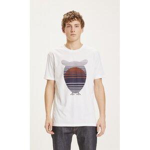 T-Shirt ALDER Basic Tee mit Eulen Sunset Print - KnowledgeCotton Apparel