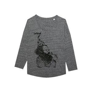 KAFFEEKLATSCH - Damen Langarmshirt aus Bio-Baumwolle von karlskopf - karlskopf