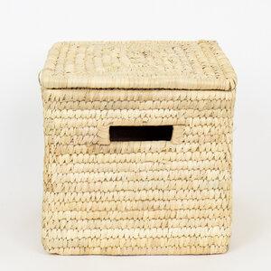 PALM rechteckiger Korb mit Deckel in 2 Größen - Afroart