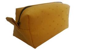 Leesha WILDe Upcycling Kosmetiktasche Gelbe Punkte - Leesha