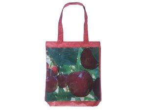 Schultertasche aus Plane - Upcycling - Obst und Gemüse - Leesha