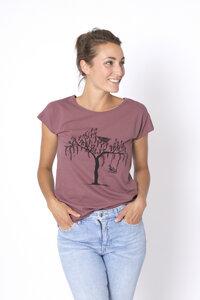 "Bio T-Shirt ""Lea Vogel mauve"" - Zerum"