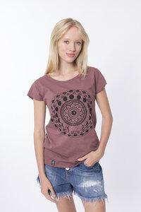 """Bio T-Shirt """"Lea inner circle mauve"""" - Zerum"""