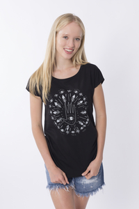 "Bio T-Shirt ""Lea mandala black"" - Zerum"