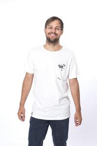 """Bio T-Shirt """"Pug Brusttasche white"""" - Zerum"""