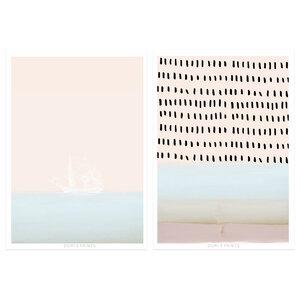 Poster DIN A3 - 2er Set Wandbilder in Skandinavische Still - Dori´s Prints
