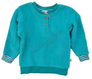 Leela Cotton Baby Sweatshirt Nicky türkis - Leela Cotton