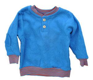 Leela Cotton Baby Sweatshirt Frottee stahlblaurot - Leela Cotton