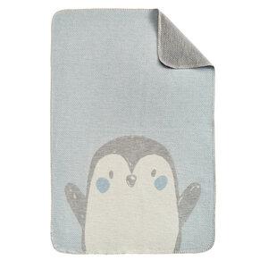 Ibena s.Oliver Babydecke Pinguin 70 x 100 cm Bio-Baumwolle - Ibena Textilien