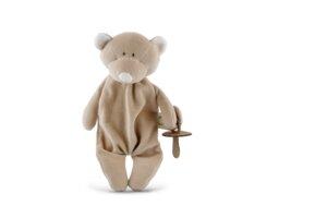 """Schmusetuch """"Teddy"""" mit Schnullerhalter - aus Bio-Baumwolle - Wooly Organic"""
