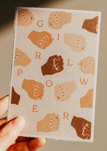 3x Postkarten | HOME | GIRLPOWER | BIRTHDAY - ocean & soil