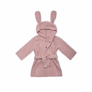 "Bademantel mit Kapuze ""Bunny"" - aus Bio-Baumwolle, GOTS zertifiziert - Wooly Organic"