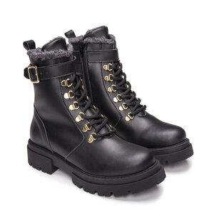 Nerea Black - vegane, warme Biker- Boots - Nae Vegan Shoes