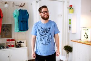 Willi Waschbär - Fair Wear T-Shirt - Heather Blue - päfjes