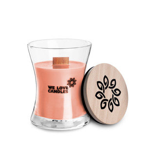 Duftkerze Rhubarb & Lilly aus Sojawachs, 100% vegan - We Love Candles