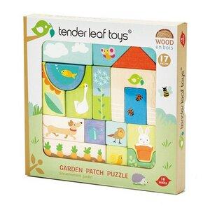 Puzzle und Blöcke Garten 17 Teile ab 18 Monaten - Tender Leaf Toys