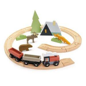Eisenbahn - Starter Set für die Kleinen ab 3 Jahre zum Schieben. - Tender Leaf Toys