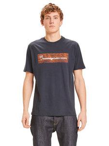 Herren T-Shirt Waves mit Logo-Schriftzug reine Bio-Baumwolle - KnowledgeCotton Apparel