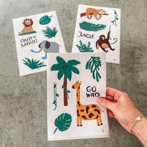 Aufkleber 3er Set mit Dschungeltieren - Fines Papeterie