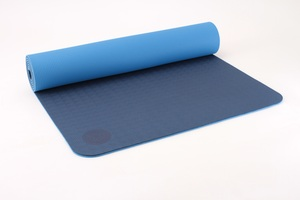 Yogamatte TPE Lotus Design®, zweifarbig, Oberfläche rutschfest - Lotus Design®