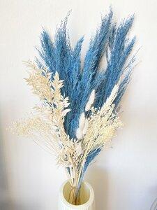 Trockenblumenstrauß Blaue Melodie - Blooms 'n' Stories