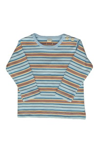 Baby Shirt LA bunt/geringelt Bio - Leela Cotton