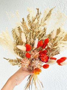 Trockenblumenstrauß Orange & Gold - Blooms 'n' Stories