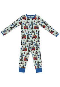 Pyjama Set, lange Hose und Langarmhemd - Smafolk