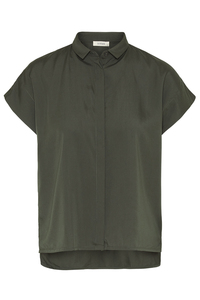 "Damen Bluse, kurzärmelig, ""TENCEL square blouse 1/2"" - Wunderwerk"