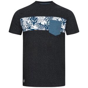 Coral Stripe Pocket T-Shirt für Herren - Lexi&Bö