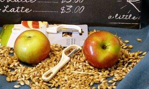 Spargelschäler vegan aus Biokunststoff - Biodora