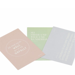 Set aus Grußkarten mit Pippi Langstrumpf Sprüchen - Fines Papeterie