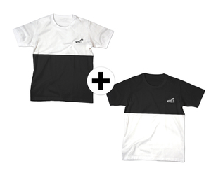 Cut'n'Sew Black & White Doppelpack  - What about Tee