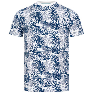 Koralle – T-Shirt für Herren mit Korallen-Allover-Print - Lexi&Bö