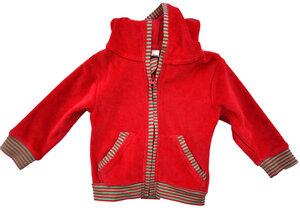 Leela Cotton Jacke mit Kapuze Nicky rot - Leela Cotton