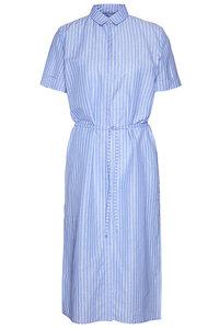 """Damen Hemdblusenkleid aus Biobaumwolle und Leinen """"Cotton linen stripe dress"""" - Wunderwerk"""