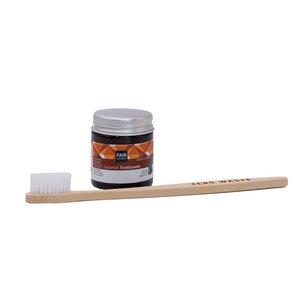 """Mundhygiene Set """"Durchbeißen' mit Zahncreme Coconut 25 g und Zahnbürste - Fair Squared"""