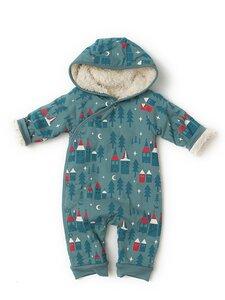 Baby Schneeanzug blau Zauberwald  Bio Baumwolle - Little Green Radicals