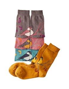 4er Pack Socken Almodis mit Vogel-Motiven (garngefärbt) - Deerberg