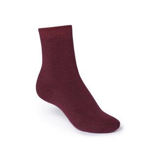 ThokkThokk Plain High-Top Plüsch Socken dark red - THOKKTHOKK