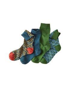 4er Pack Socken Walkiria - unifarben und gemustert - Deerberg