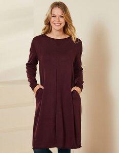 Strick-Kleid Adesina in Tulpenform - aus 100% Bio-Baumwolle (GOTS) - Deerberg
