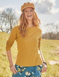 Jersey-Shirt Fally langarm - aus Bio-Baumwolle, Bio-Wolle und Seide - Deerberg