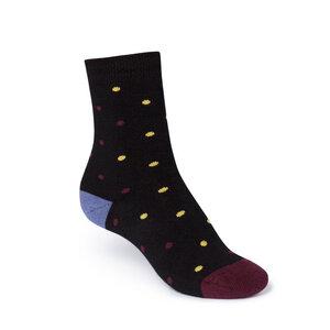 ThokkThokk Dotties High-Top Plüsch Socken black/lavender - THOKKTHOKK