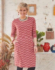 Jersey-Kleid Magdalen mit Scandi-Print - aus Bio-Baumwolle (GOTS) - Deerberg