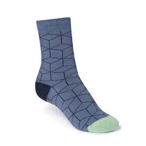 ThokkThokk Cubed High-Top Plüsch Socken blue grey - THOKKTHOKK